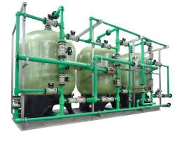 Industrial water filtration plants
